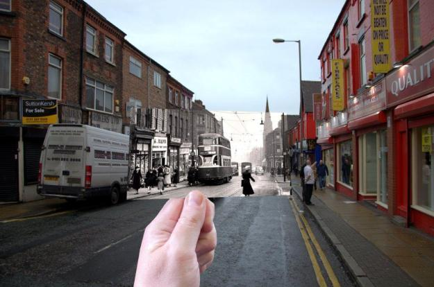 Breck Road, Anfield, then and now.