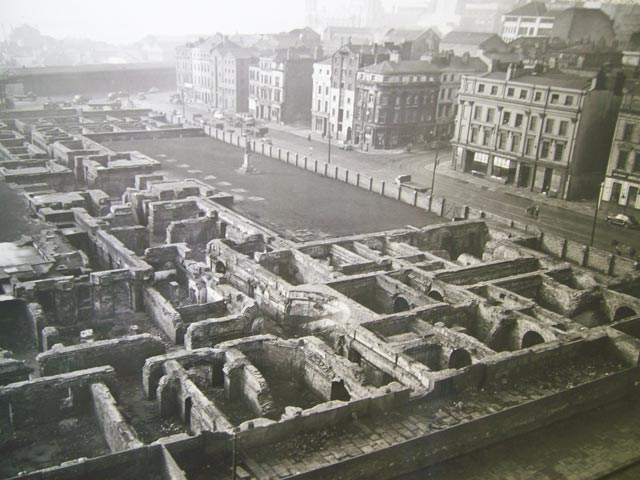The Custom House, 1954. Where Liverpool One now stands.