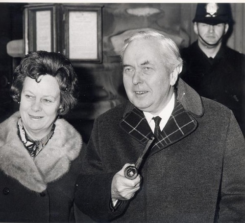 And Mary and Harold Wilson return to No. 10.