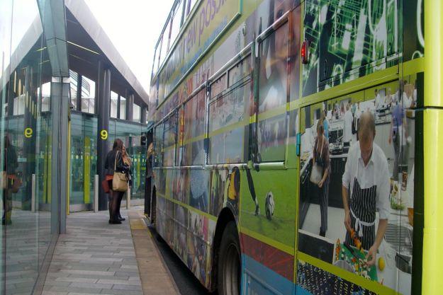 Not so much a bus as an advert.