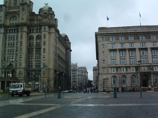Here's how we were landscaping the area in front of our Three Graces. Harshly.