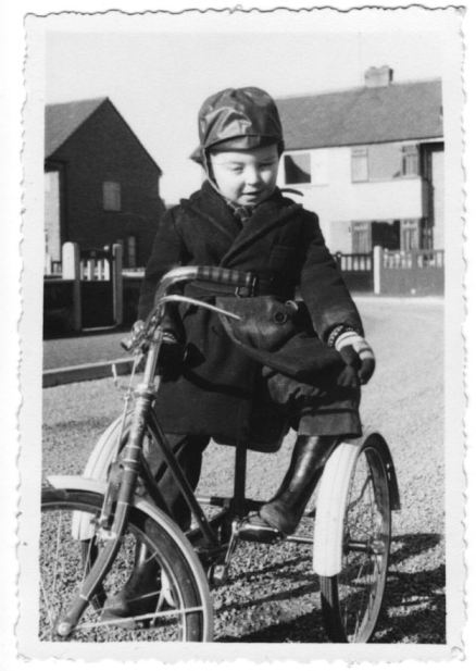 Me in 1958, Hillary Crescent, Maghull.