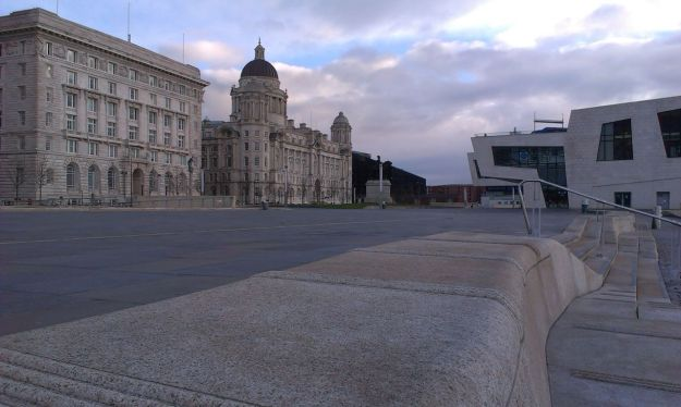 The Pier Head, Christmas Day.