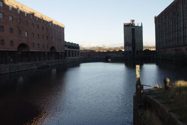 And since 1846 the canal has entered the river at Stanley Dock.