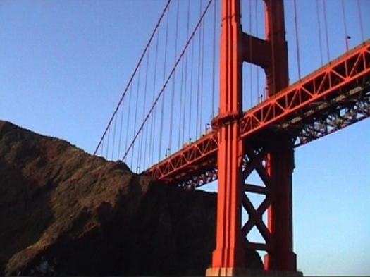 Golden Gate Bridge, April 2002.