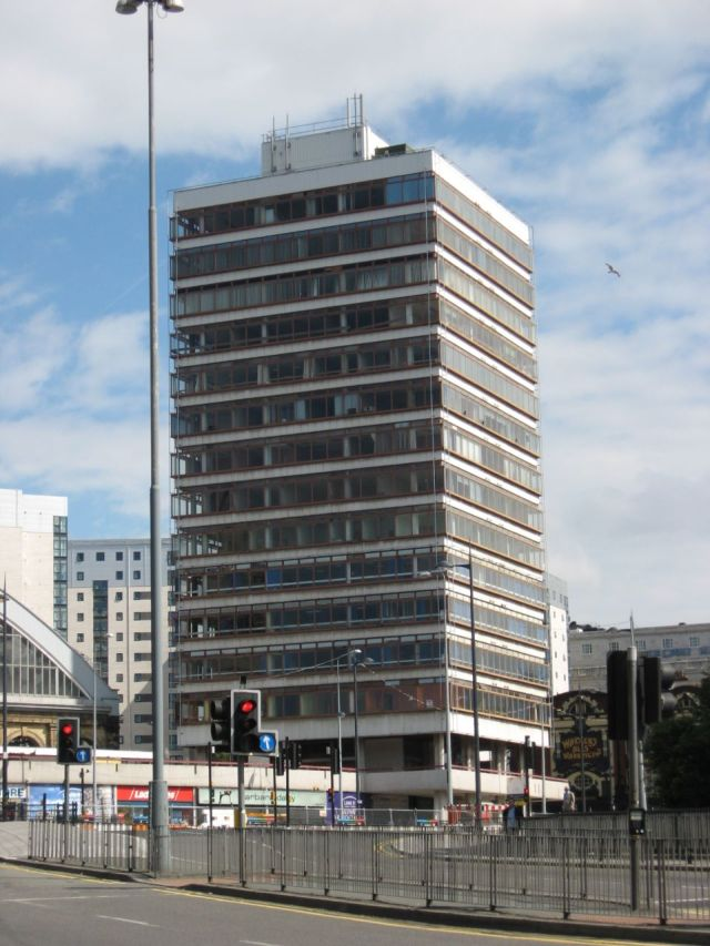 And next to them the exquisite ugliness of Concourse House. Also now gone.