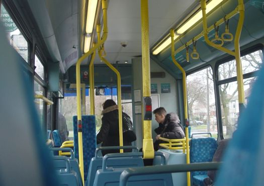 Inside the bus. Just to give you a sense of, well, place.