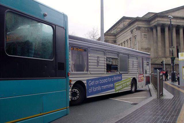 Getting off at St George's Hall I find I've been travelling on an advert for caravans at Talacre. Won't do that again.