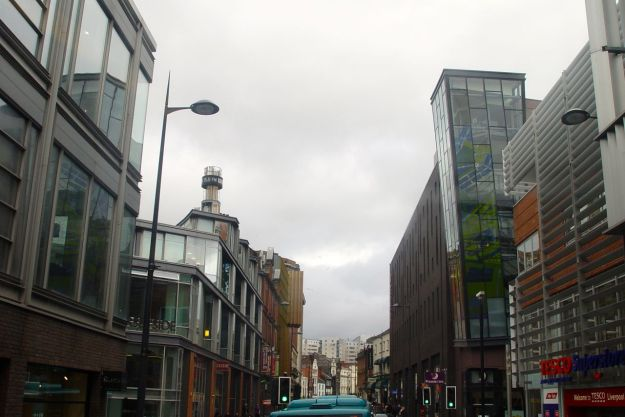 Along Hanover Street, through Liverpool One.