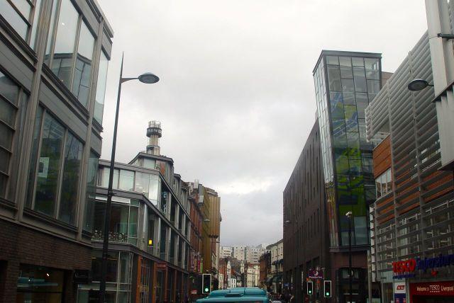 Along Hanover Street, through Liverpool One.