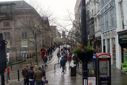 Past the bottom of Bold Street.