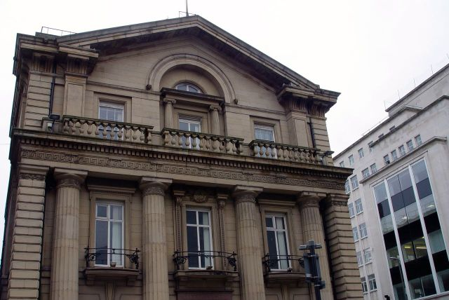 Beautiful buildings around where I'm going for my next bus. This was once a branch of the Bank of England.