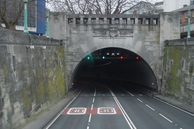 The Mersey Tunnel.