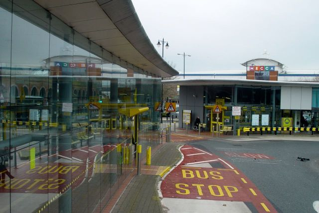 Stopping at Birkenhead Bus Station.