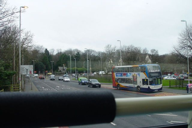 Nearly at the Arrowe Park junction.