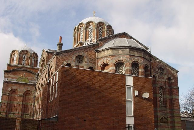 Next along is the lovely Greek Orthodox church