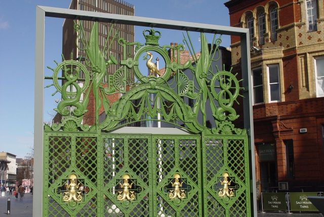 The Gates of the Sailors' Home that used to stand here.