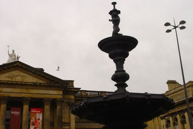 Distinct absence of picturesque Victorian urchins around the fountain today.