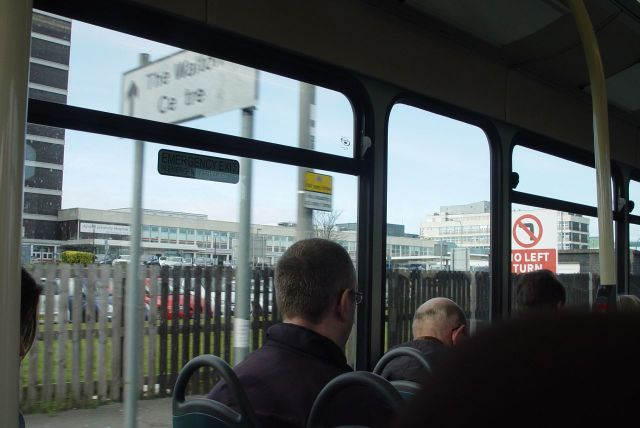 Into Fazakerley now, past the hospital.