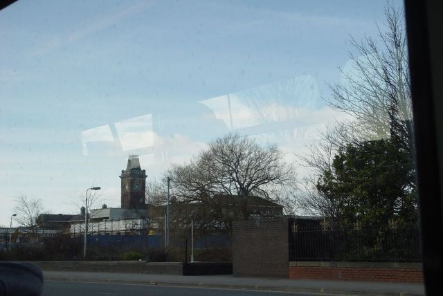 Along Rice Lane now, past the former Walton Hospital.