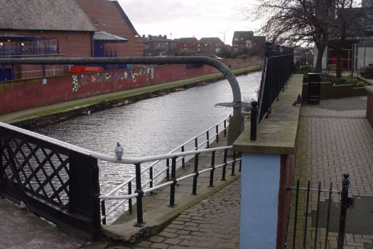 We cross the canal.