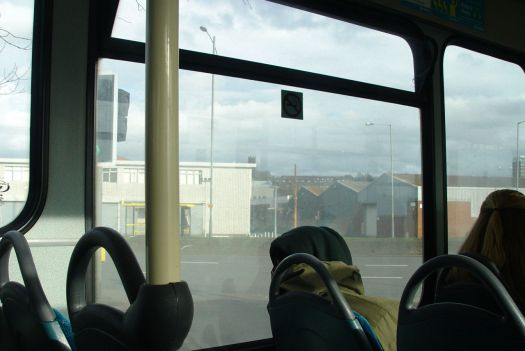 Where they're clearly not aware we're currently writing and photographing this series of bus articles. The windows are so dirty