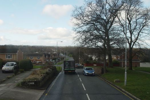 Down the hill to Greasby.