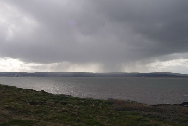 And we watch the rain falling on the North Wales coast.