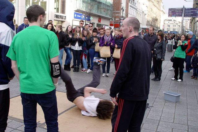 Later, on Church Street, we're delighted to witness the return of Breakdancing.