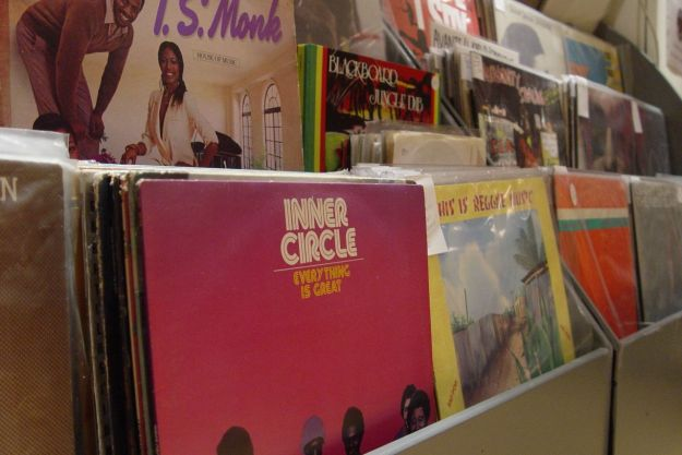 Soul & Disco & reggae racks being replenished while I was in there.