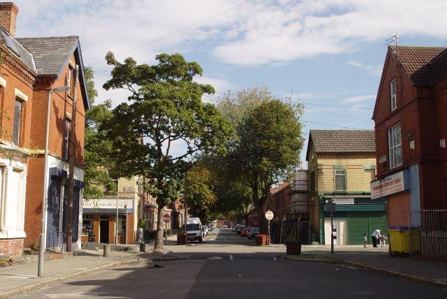 Granby 4 Streets in Liverpool 8. Late summer in Beaconsfield Street.