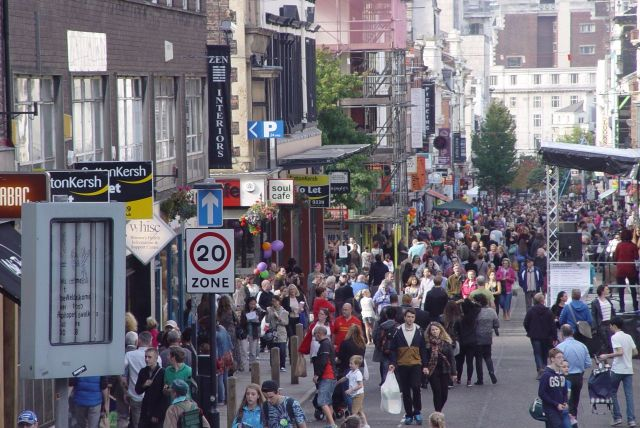 Bold Street. The centre of independent Liverpool.
