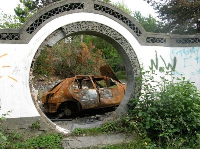 The derelict 1984 Garden Festival site.