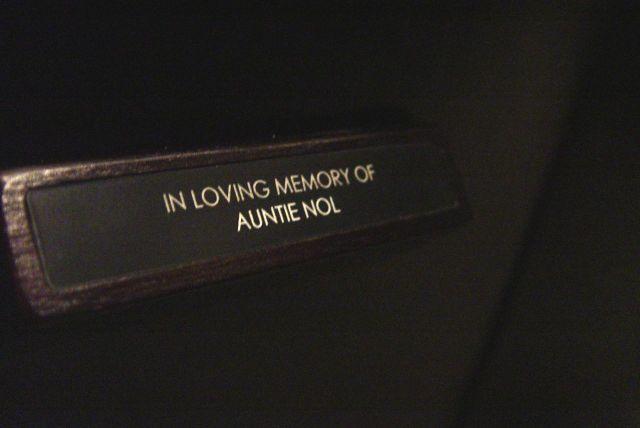 For Auntie Nol.