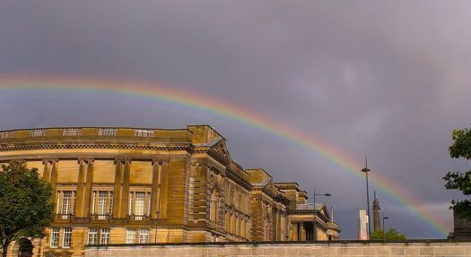 At the end of the rainbow. Our museum and our glorious library.