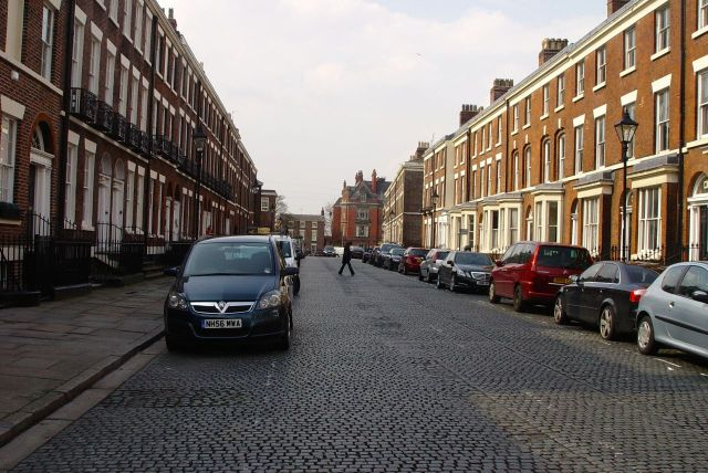 In 1973 Falkner Street is mostly in the hands of slum landlords and you'll very rarely see a car on the street.