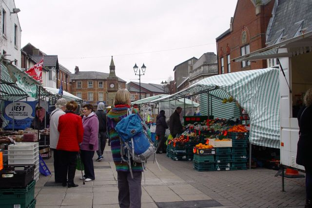 It's Saturday morning and the market's in full swing.