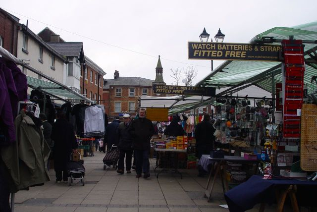 The medieval centre of the town is thronged with stalls. Bread, fruit, pies, mattresses, Dyson cleaners, purses, watch straps and much, much more.