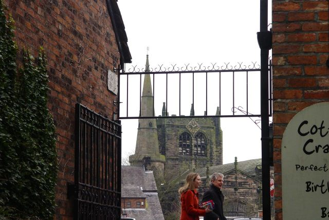 And through the end of one of the alleys we spot Ormskirk's jewel.