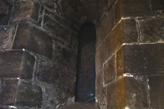 The oldest part of the church, a Norman window.