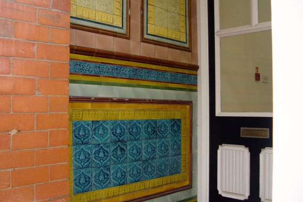 Back round in Burscough Street. Lovely tiling on an empty shop. It could be your's?