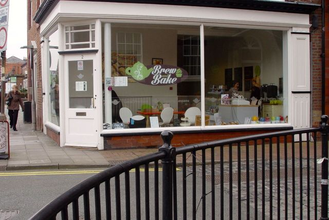 'Brew and Bake' - on the corner of Derby Street and Burscough Street.