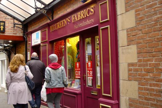 Containing, to Sarah's delight, this specialist haberdashery shop.