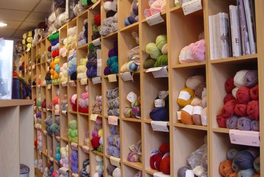 Where Sarah adds to her stash of wool, lace, patterns and needles.