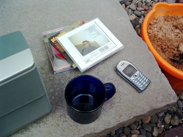 And my 'working in the back yard' kit.