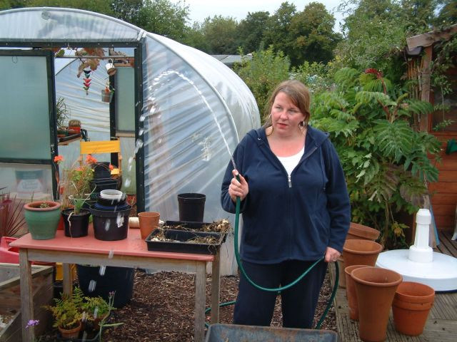 Sarah's got her allotment by these days.