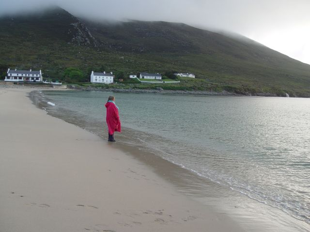 And also in 2005 we travel to where my father's ancestors came from, the west of Ireland. Sarah here on the beach in the evening on Achill Island.