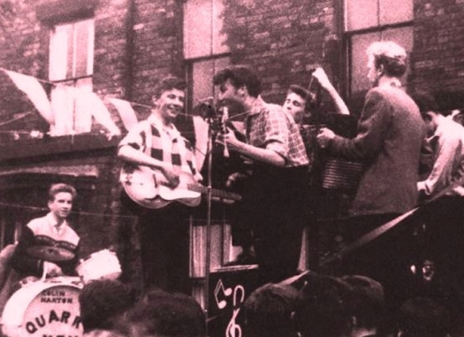 Where our John and the Quarrymen played from the back of a lorry in 1957.