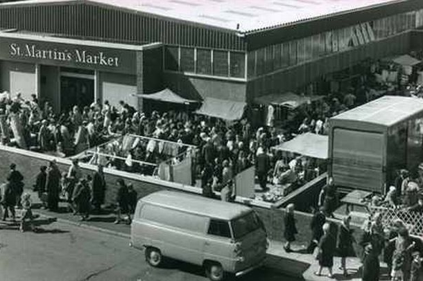 On the street and covered. My late uncle Arthur Gerrard ran a stall in there for years.