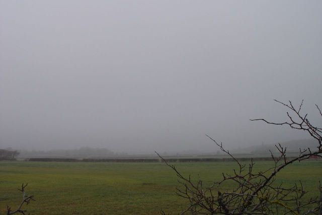 So we can see over the top of it into the misty middle distance.